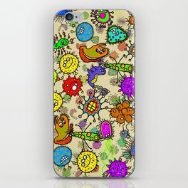 Doodle Germs iPhone Skin