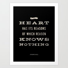 The Heart Quote Art Print