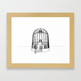 Singularity Concept Sketch by Rebekah Waites Framed Art Print