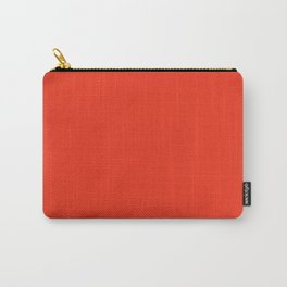 Gerbera Daisy Red Solid Color Carry-All Pouch