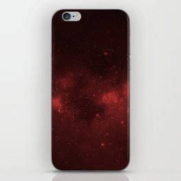 Fascinating view of the red cosmic sky iPhone Skin