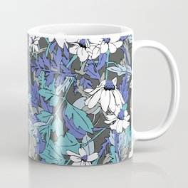 Floral Forest in Blue Coffee Mug