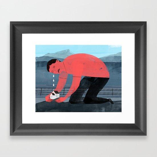 Church Farmer Framed Art Print