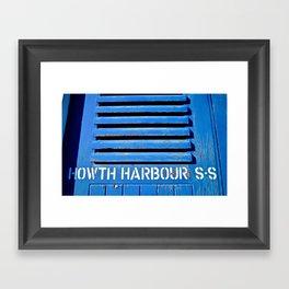 Howth Harbour Shutter Framed Art Print