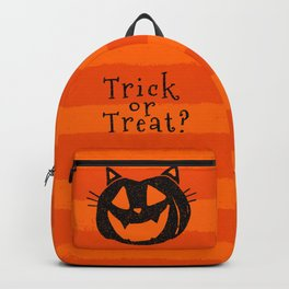 Trick or Treat? Halloween cat lady Backpack
