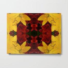 """A Gathering of Lilies"" Remix - 2 (2-1) [D4466~24] Metal Print"