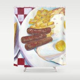 Greasy Breakfast Shower Curtain