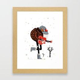 Moon Boots, Gretsch & Bomber Jacket Framed Art Print
