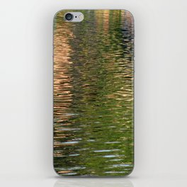 Reflection in a pond iPhone Skin