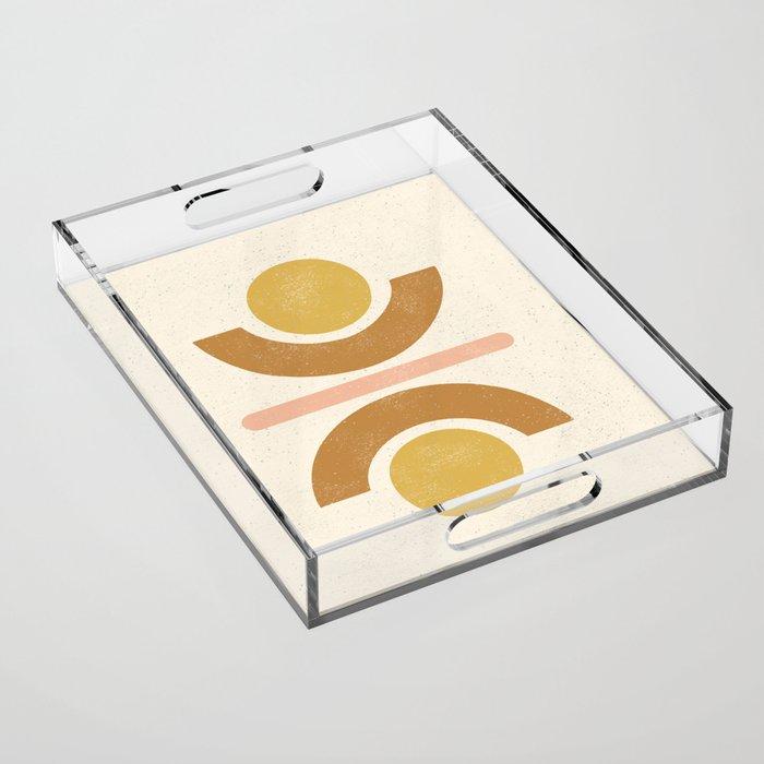 Totem Shapes #2 - Ochre, Terracotta, Pink Acrylic Tray