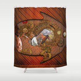Steampunk, Wonderful dolphin Shower Curtain