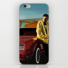 Aaron Paul as Jesse Pinkman & Chevy Montecarlo @ TV serie Breaking Bad iPhone Skin