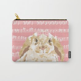 Bunny Composition (beige/pink) Carry-All Pouch