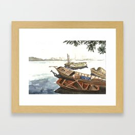 West Lake, Hanoi, Vietnam Framed Art Print
