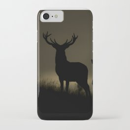 Red Deer at dawn iPhone Case