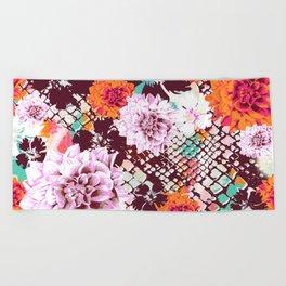 Croc Floral Beach Towel