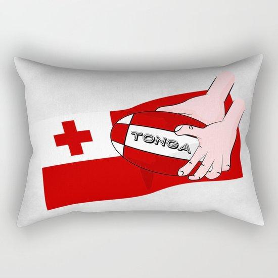 Tonga Rugby Flag Rectangular Pillow
