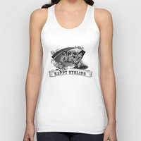 cycling Tank Tops featuring happy cycling by muffa