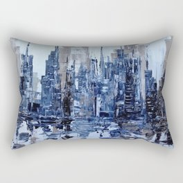 Dream in blue Rectangular Pillow
