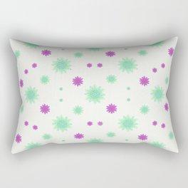 Stars Motif Multicolored Pattern Rectangular Pillow