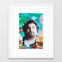 jessica lange Framed Art Prints featuring Artie Lange by John Turck