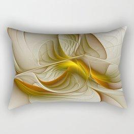 Abstract With Colors Of Precious Metals, Fractal Art Rectangular Pillow