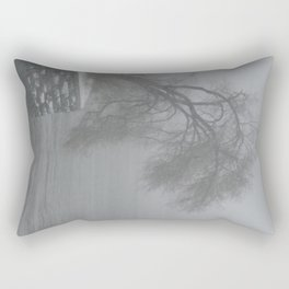 Snowy Tree Over the East River - Yorkville, New York City Rectangular Pillow
