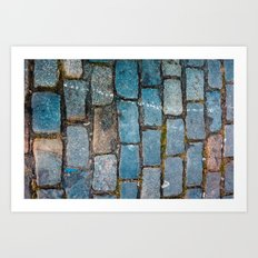 Rocks on the streets Art Print