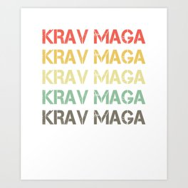 Martial Arts Combat Fighting Military Fighter Krav Maga Vintage Gift Art Print