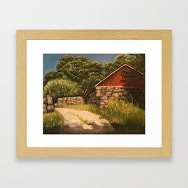 Weir Farm Landscape Painting Framed Art Print