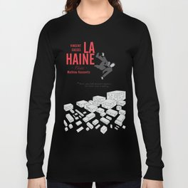 La Haine (Hate) Vincent Cassel, Mathieu Kassovitz, alternative movie poster, banlieue french film Long Sleeve T-shirt