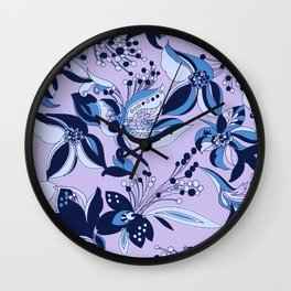 Clarice Floral_Blue Wall Clock