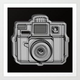 I Still Shoot Film Holga Logo - Black Art Print