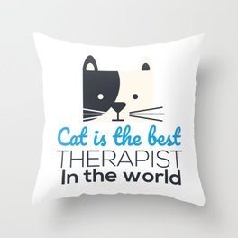 Our therapist cat Throw Pillow