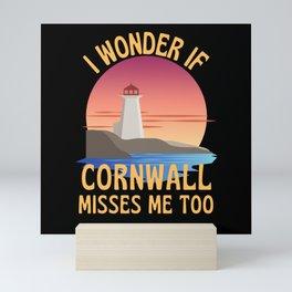I Wonder If Cornwall Misses Me Too Pasty Mini Art Print