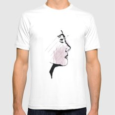 Portrait MEDIUM White Mens Fitted Tee