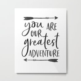 "Printable Art "" You Are Our Greatest Adventure"" Nursery Art Nursery Prints Nursery Print Metal Print"