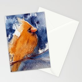 The Yellow Bird- watercolors Stationery Cards