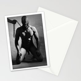 Nude Male Slave in a Dungeon Stationery Cards