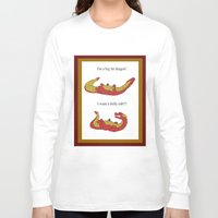 smaug Long Sleeve T-shirts featuring Whiny Smaug by Rshido