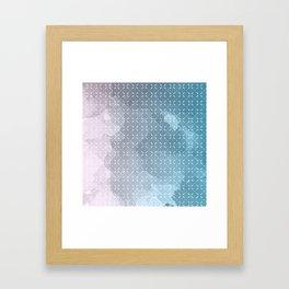 Geometric Aquarelle Framed Art Print