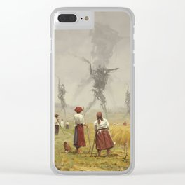 1920 -The march of the Iron Scarecrows Clear iPhone Case