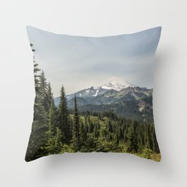 Mt Rainier from Naches Peak Loop Throw Pillow