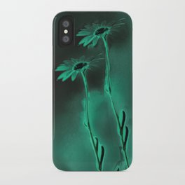 two green daisies iPhone Case