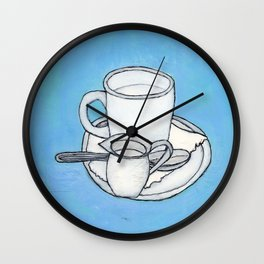 coffee and spoon Wall Clock