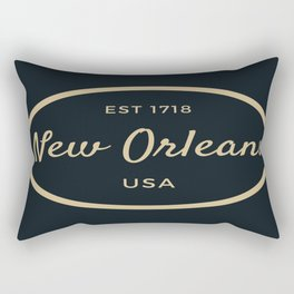 New Orleans Established USA Print Rectangular Pillow