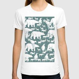 Polar gathering (emerald) T-shirt