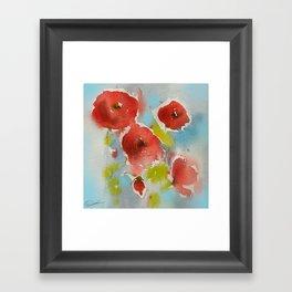 Roses (watercolor) Framed Art Print