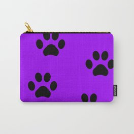 Purple Pawprint Carry-All Pouch