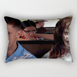 Possessed Regan from The Exorcist and Forrest Gump Rectangular Pillow